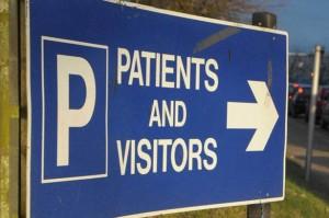 病院の駐車場