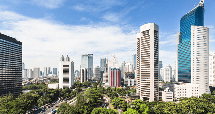 ジャカルタのビジネス街