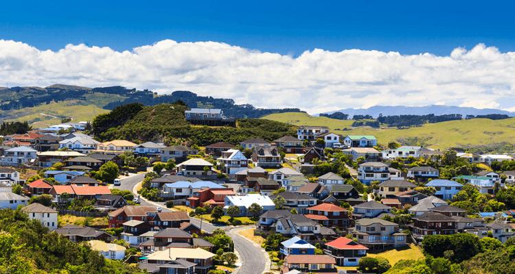 ニュージーランド住宅街